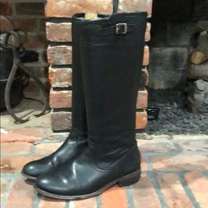 Frye black tall slouch boots size 7 1/2